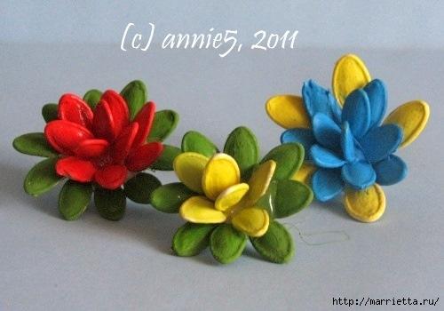 Цветы из шишек, семечек, листьев кукурузы, фисташек и макарон (18) (500x350, 100Kb)