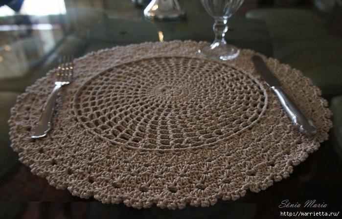 Сервируем стол круглыми салфетками. Схема (6) (700x448, 247Kb)