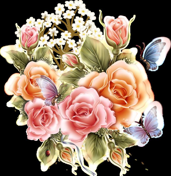 Открытку, картинки с цветами рисованные