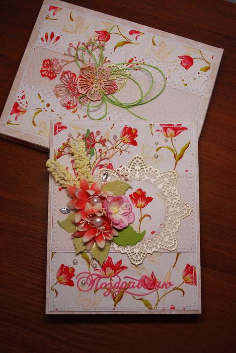 Как украсить красиво открытку внутри