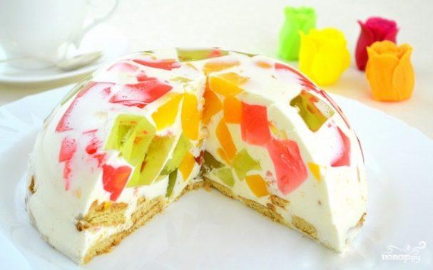 рецепты несложных тортов с желе с фото