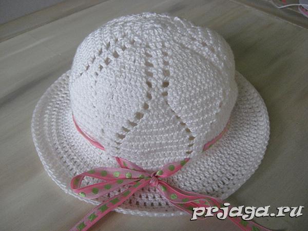 Вязание крючком шляпы с полями крючком схемы 2