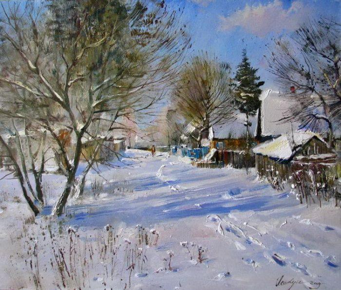 Родная улица моя.... Живопись, поэтические зарисовки... 135176516_ubogaya_Rossija_03e1486818961631