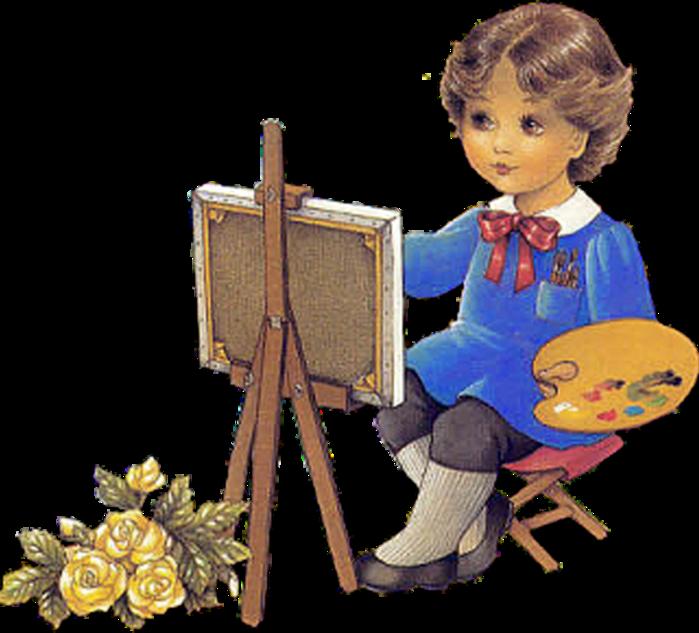 Картинка художник на прозрачном фоне