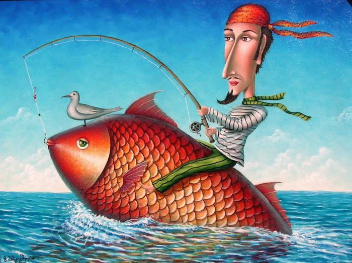 Смешные картинки с рыбаком и рыбкой, картинки приколами скопировать