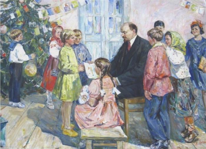 Ленин и елка открытки, поздравление