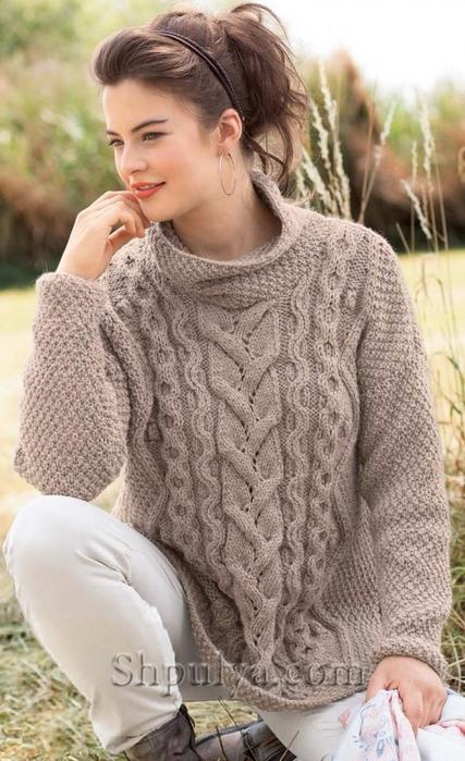 Вязание аранов для пуловера 11