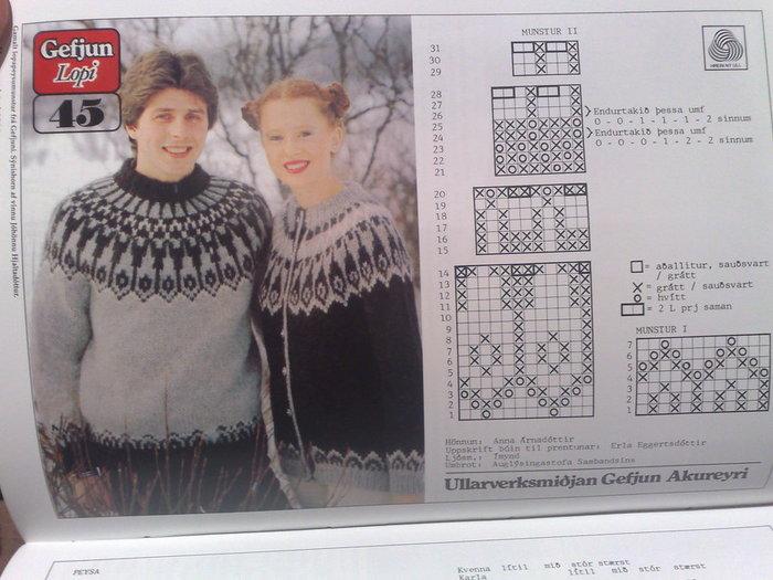 Подробный фото мастер-класс по вязанию на спицах исландского свитера lopapeysa с круглой жаккардовой кокеткой.