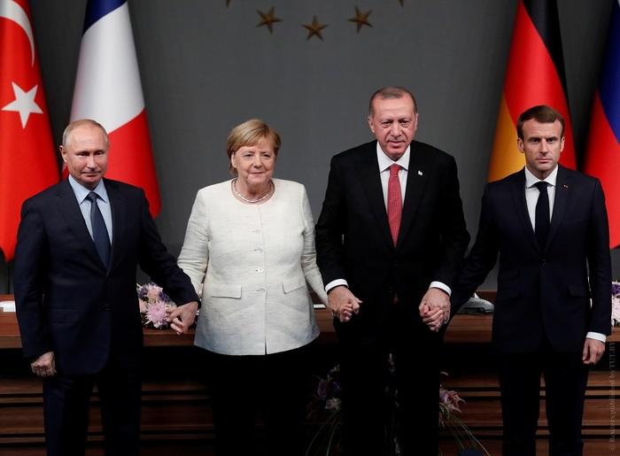Фото-Reuters-Путин-Меркель-Эрдоган-Макрон (700x515, 78Kb)