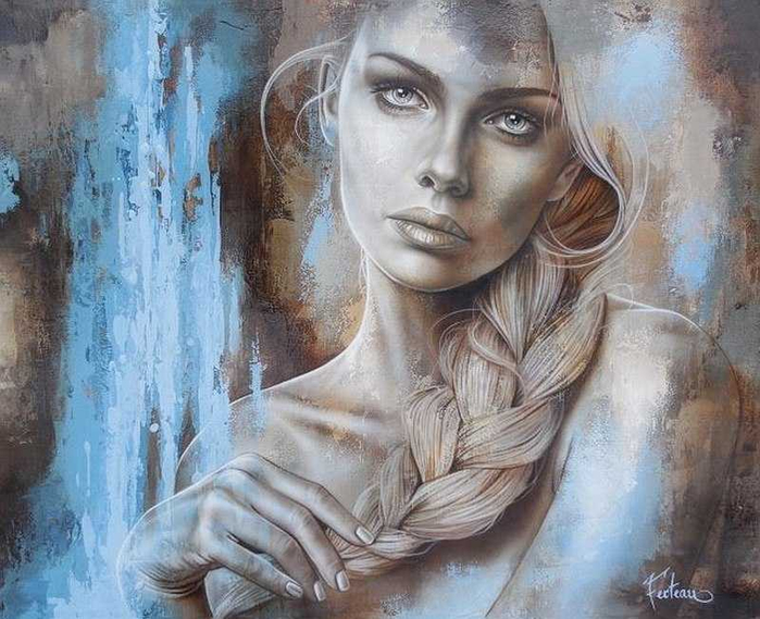 Канадская художница Sarah Fecteau0 (700x569, 399Kb)