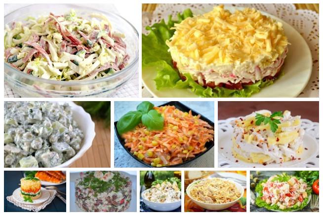 Картинки по запросу Отличная подборка из 10 самых вкусных и быстрых салатов