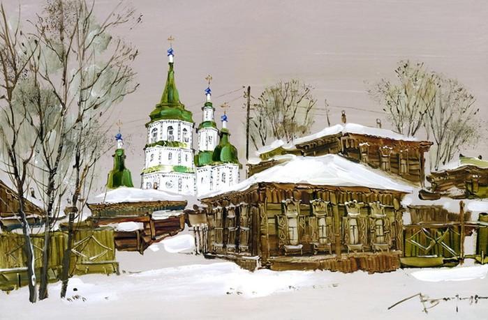 Художница Вероника Лобарева: Иркутские улочки