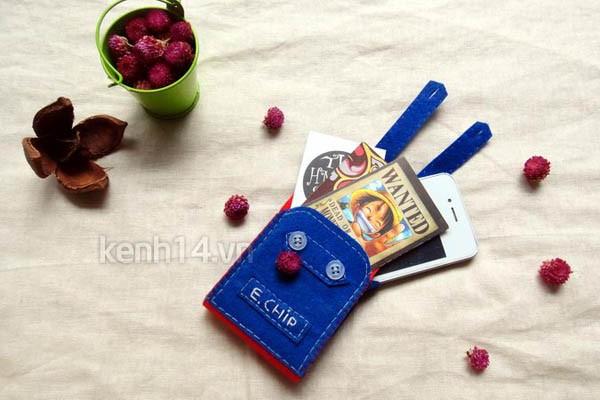 Чехол из фетра для карточек или для мобильного телефона. Мастер-класс