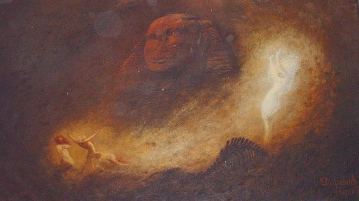 1896 Большой Сфинкс в Гизе. (700x392, 88Kb)