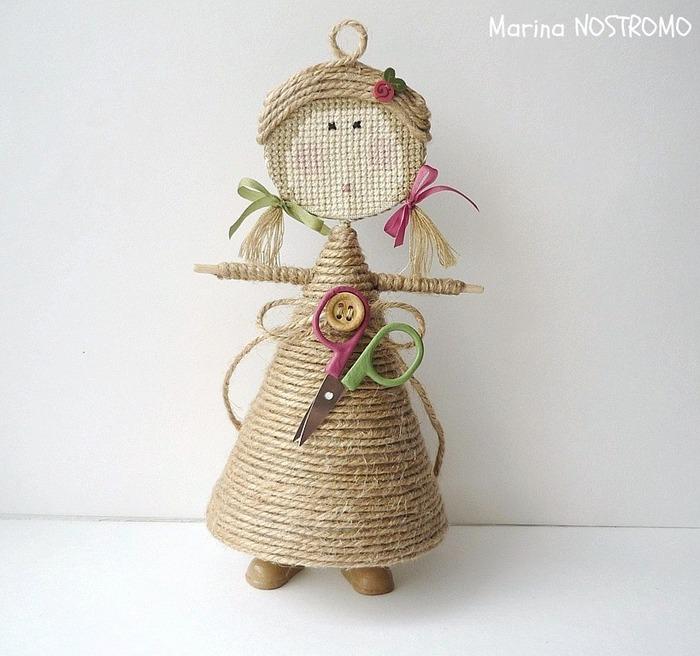 Куколка Lady Primitiv от Marina NOSTROMO. Мастер-класс