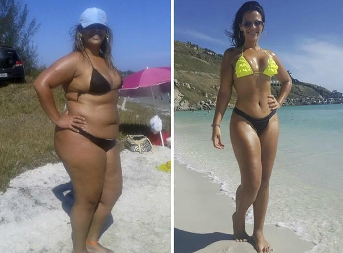 Девушки ДО и ПОСЛЕ похудения: мотивационные фотографии