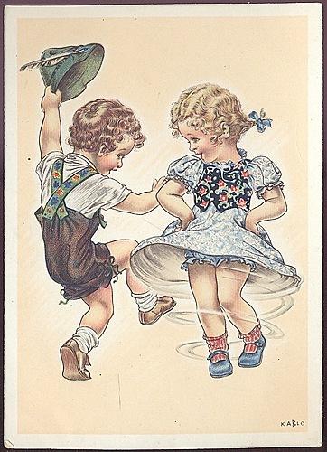 Дети на открытках 50 годов