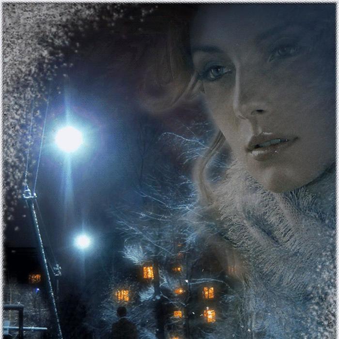 Гифка зима падает снег одинокая женщина, открытки разном