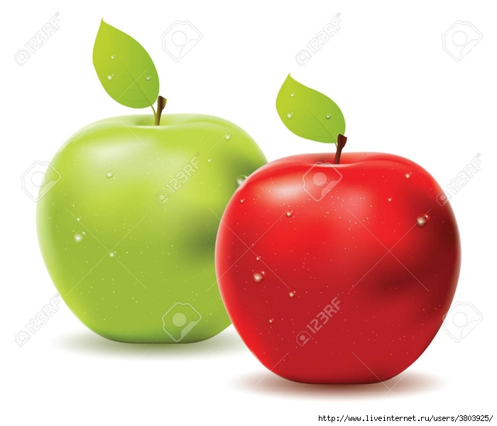 23032253-two-apples-red-and-green-one-on-white-background- (700x600, 141Kb)