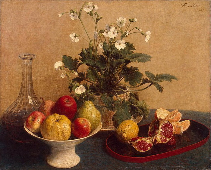 1865 Still-Life-Flowers-Dish-with-Fruit-and-Carafe (стр.51) (700x565, 176Kb)