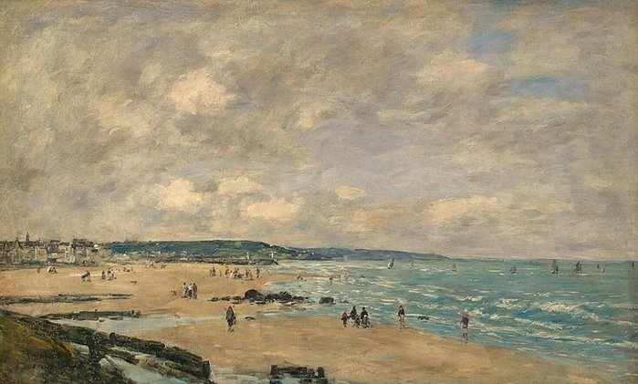 Eugene Boudin - Beach-at-Trouville 1893 (700x421, 68Kb)