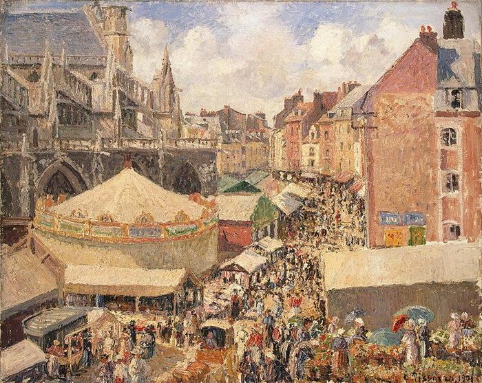 1901 Fair-in-Dieppe-Sunny-Morning (с.171) (700x557, 236Kb)