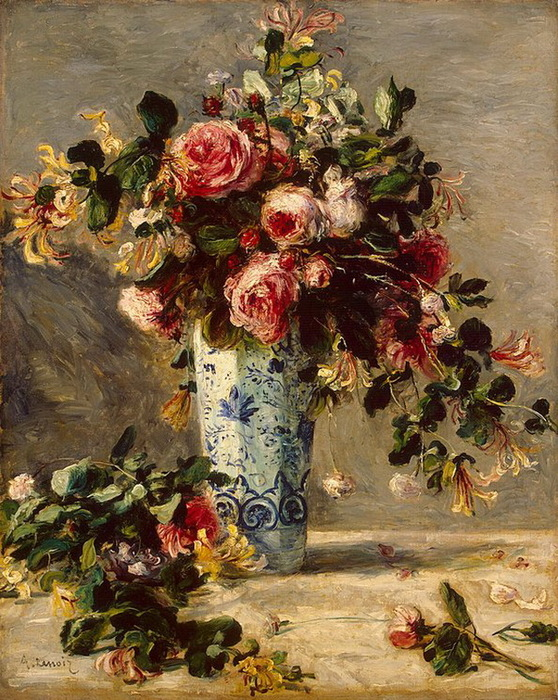 1880-1881 Roses-and-Jasmine-in-a-Delft-Vase (стр.99) (558x700, 210Kb)