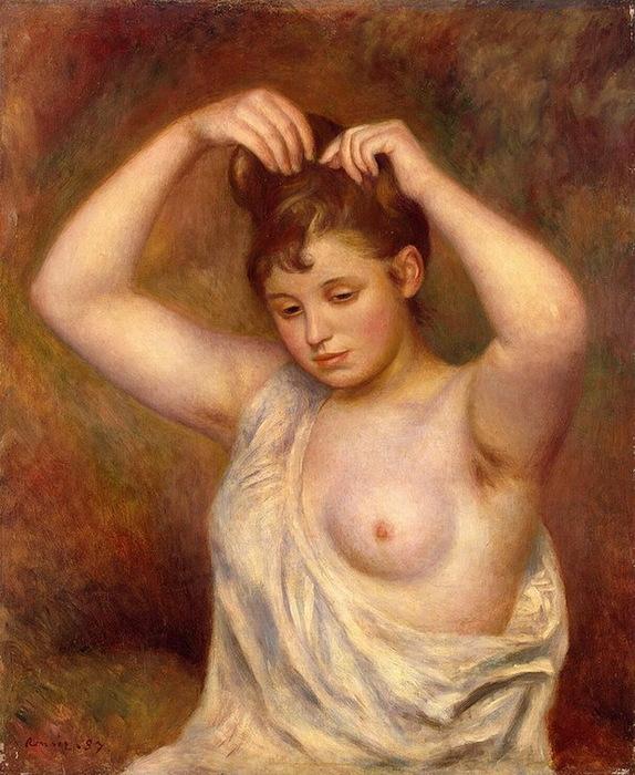 1887 Woman-Arranging-her-Hair (с.110-111) (574x700, 150Kb)