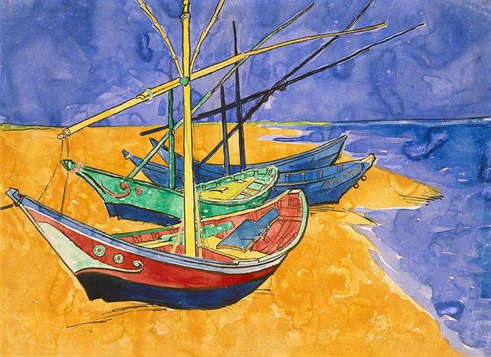 1888 Boats-at-Saintes-Maries (700x509, 188Kb)
