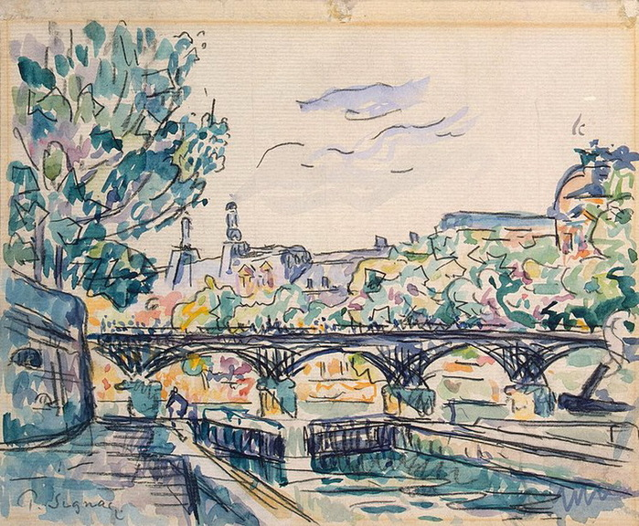 1900-1920-Bank-of-the-Seine-Near-the-Pont-des-Arts-with-a-View-of-the-Louvre (700x576, 218Kb)
