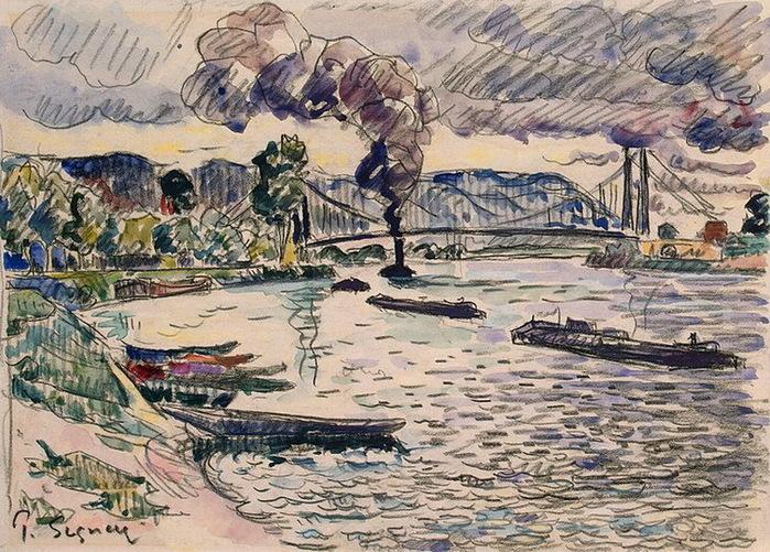 1920 Suspension-Bridge-in-Les-Andelys (700x501, 205Kb)