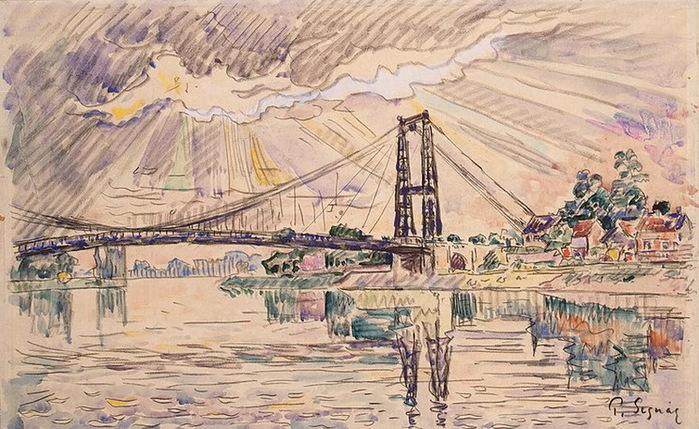 1920 Suspension-Bridge-in-Les-Andelys-1 (700x429, 155Kb)