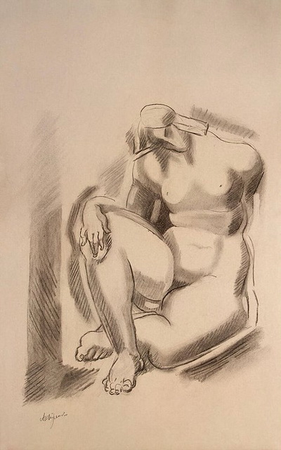 1920-е Seated-Female-Nude-with-Left-Leg-Bent (400x640, 84Kb)