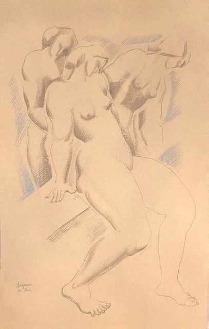 1920-е Three-Nude-Female-Figures (407x640, 78Kb)