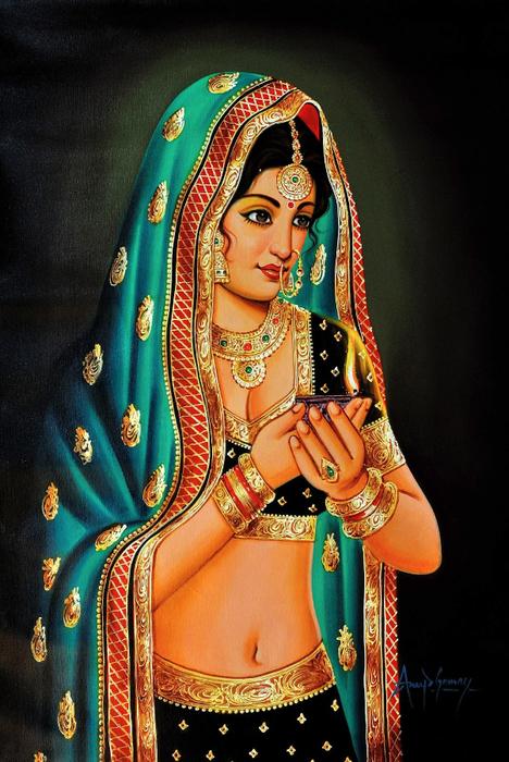 Anup Gomay - Indian artist - Catherine La Rose  (25) (468x700, 427Kb)
