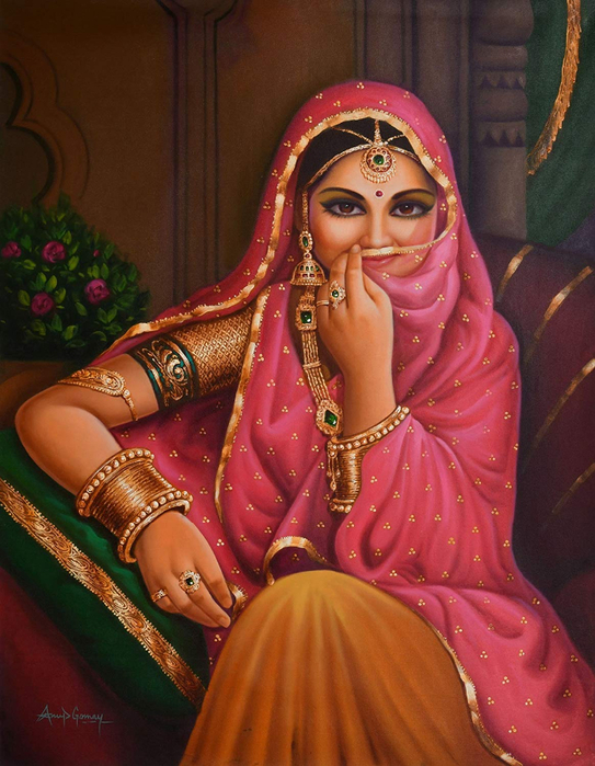 Anup Gomay - Indian artist - Catherine La Rose  (19) (543x700, 438Kb)