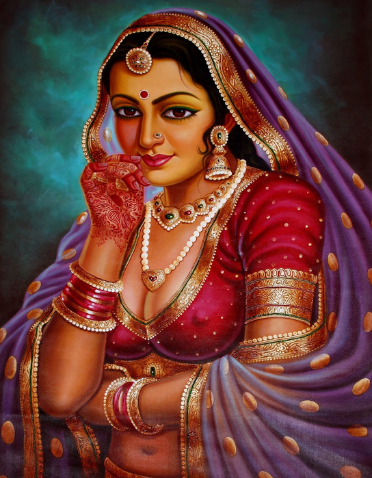 Anup Gomay - Indian artist - Catherine La Rose  (34) (544x700, 520Kb)