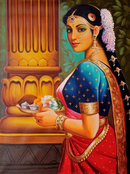 Anup Gomay - Indian artist - Catherine La Rose  (37) (522x700, 492Kb)