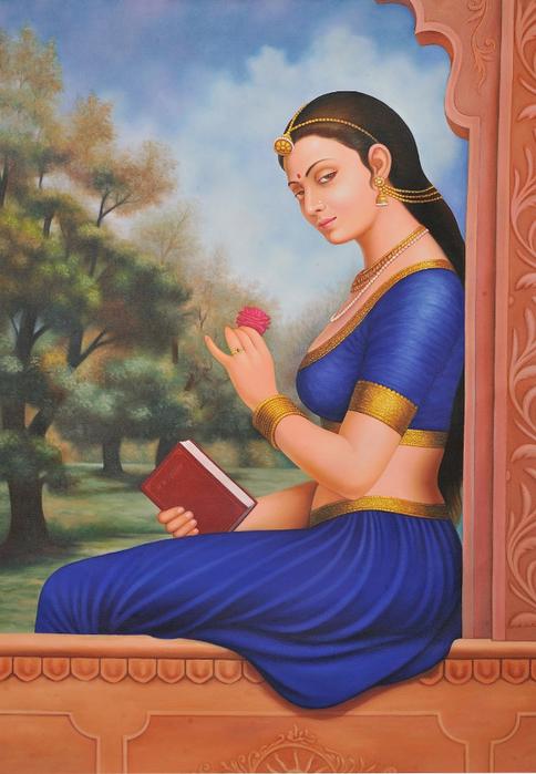 Anup Gomay - Indian artist - Catherine La Rose  (42) (484x700, 377Kb)