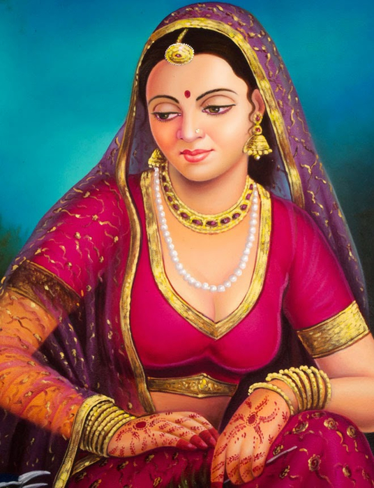 beautiful indian-paintings@fineartandyou14 (536x700, 417Kb)
