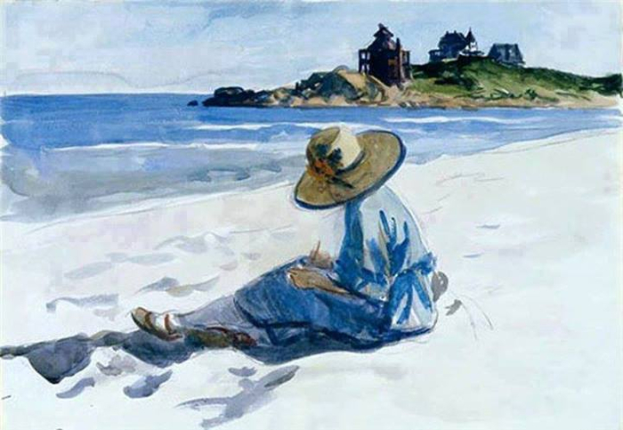 Edward_Hopper_-_Jo_Sketching_at_Good_Harbor_Beach__1925-28 (700x483, 284Kb)