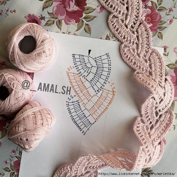 вязаная тесьма ленточное вязание крючком схемы вязания