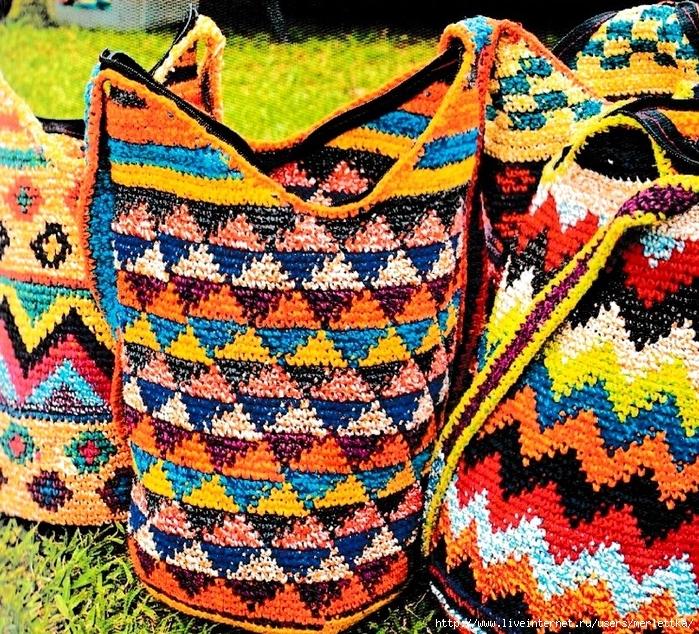 a223a3898969 Вязаные сумки, Колумбийская мочила крючком. Обсуждение на LiveInternet -  Российский Сервис Онлайн-Дневников
