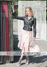 7130e6a479d Выкройка юбки с запахом на 5 размеров от Анастасии Корфиати ...