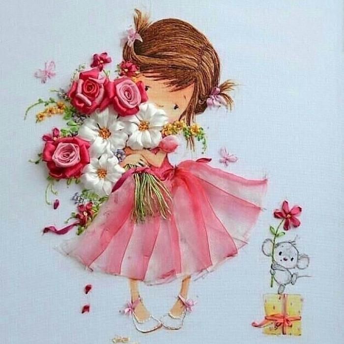 Милые открытки с днем рождения для девочки, юбилеем