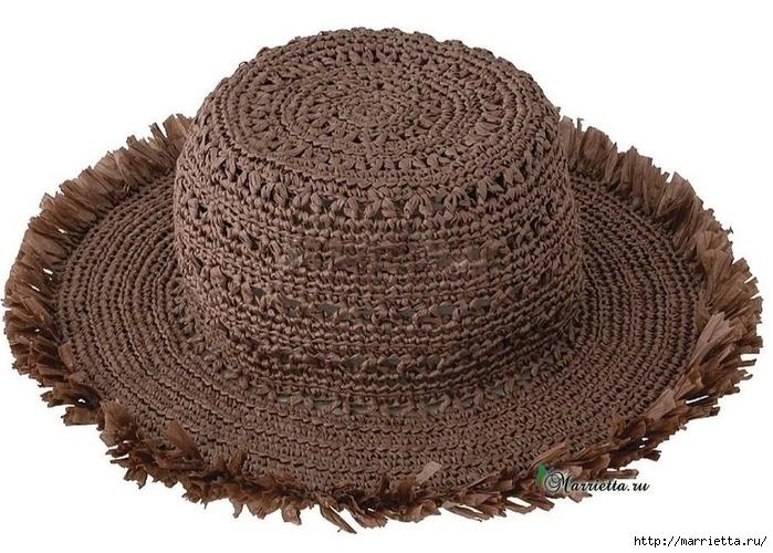 Летняя шляпка крючком. Схема вязания (3) (700x500, 279Kb)