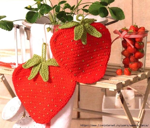Вязаные ягодки в интерьере