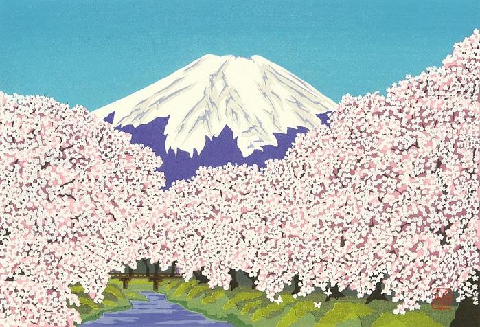 Mt. Fuji in Spring (700x476, 506Kb)