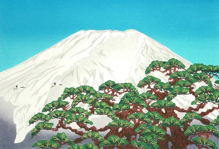 Рассвет Фудзи---Mt. Fuji in Winter (700x477, 414Kb)