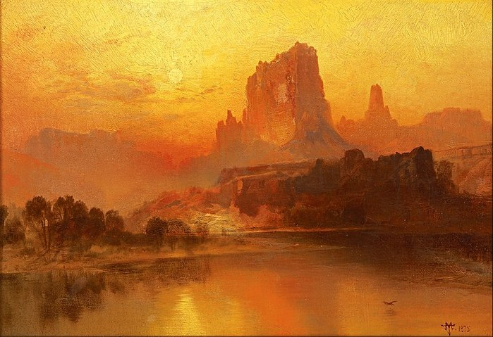 800px-Thomas_Moran_-_The_Golden_Hour_-_Google_Art_Project (700x479, 89Kb)